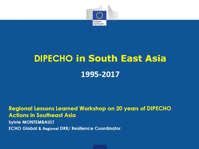 DIPECHO Programme in Southeast Asia